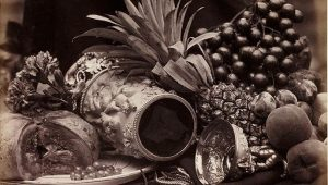Still Life with Ivory Tankard and Fruit.